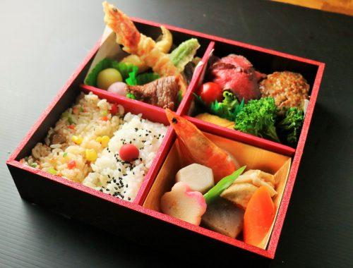 ローストビーフと旬の天ぷらご膳