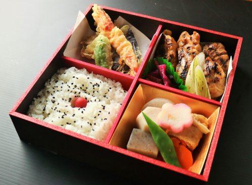 あべ鶏熟成みそ焼きと天ぷら御膳