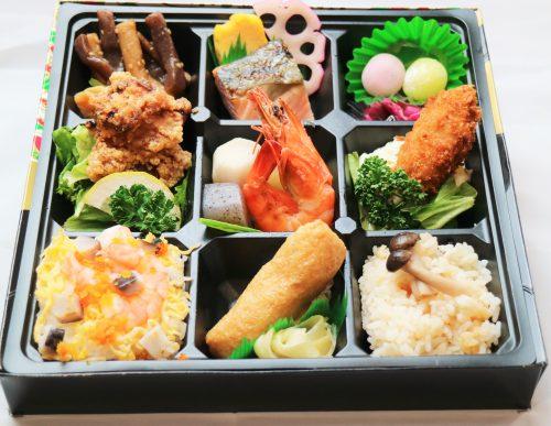 ちらし寿司と有頭海老九重幕ノ内弁当